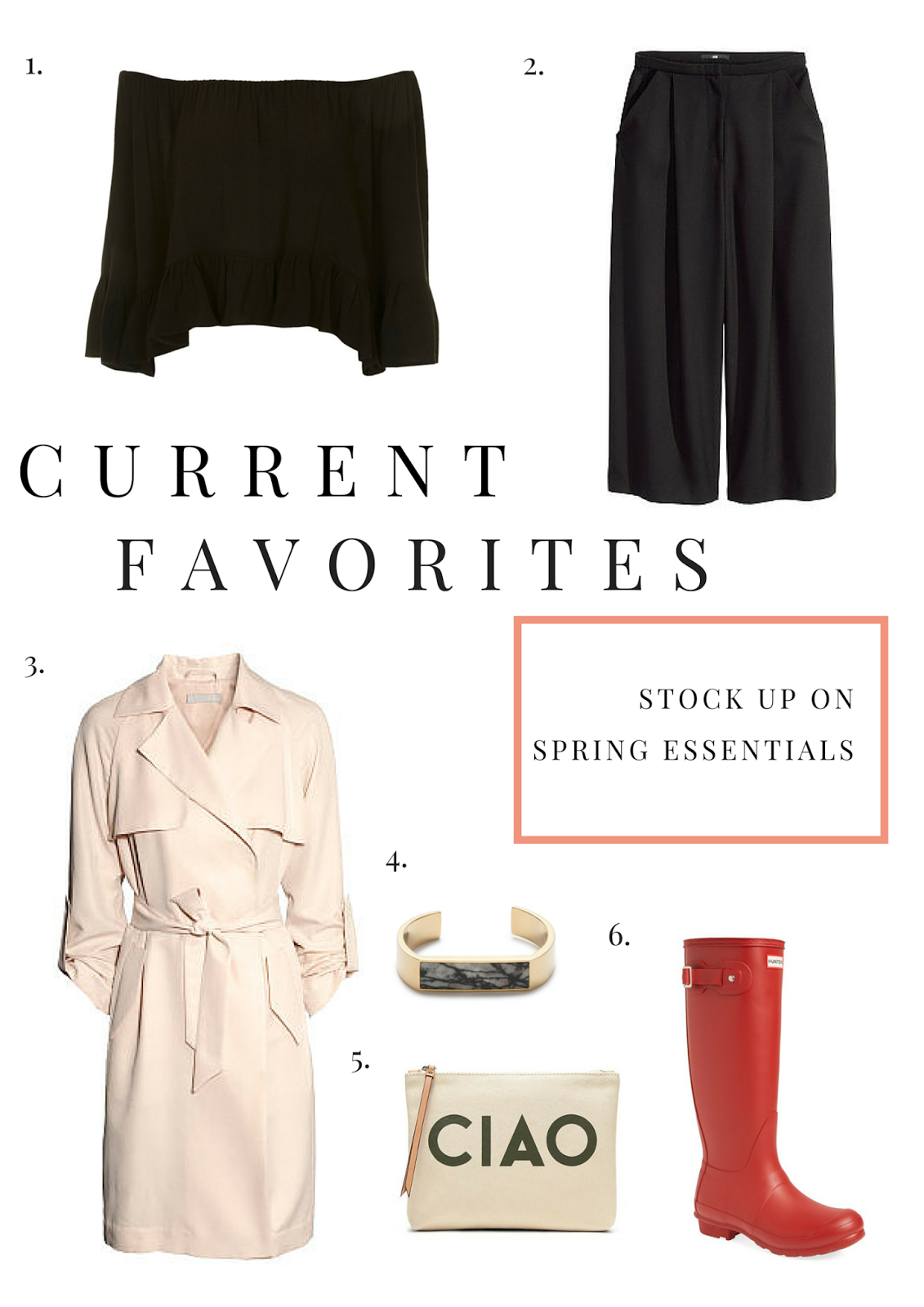Current Favorites, Spring, Essentials, Fashion, Project Soiree