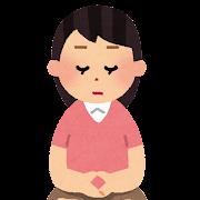 座禅を組む女性のイラスト