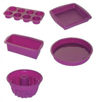 Utensilios de cocina set 5 moldes de silicona para horno - Moldes de silicona para horno ...