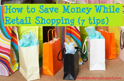 How to save money while retail shopping (7 tips) cover- shopping bags
