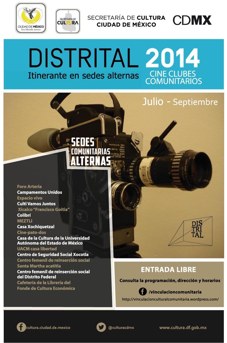 """""""Verano y Cine: Festival Distrital en Cine Clubes Comunitarios"""""""