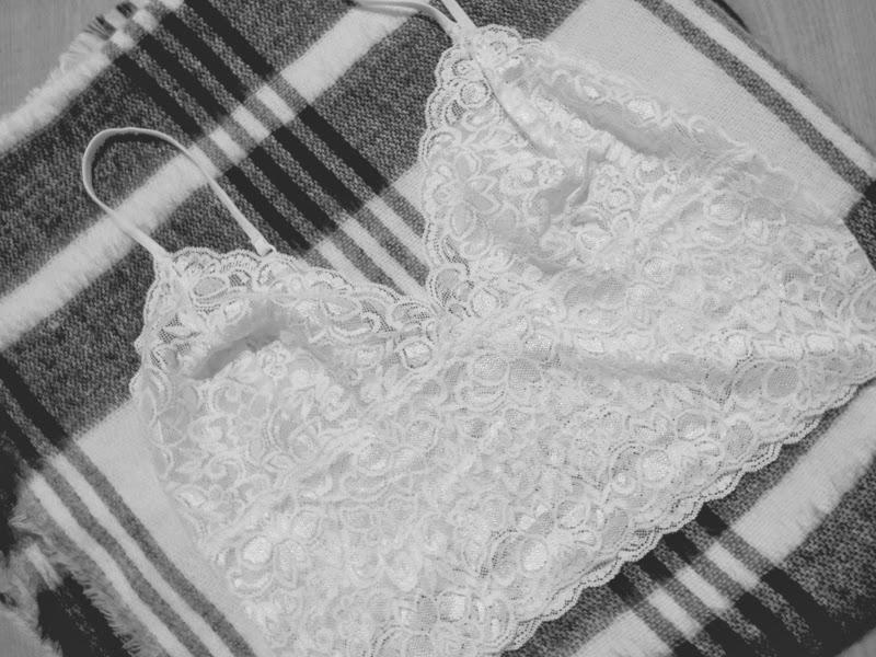 Vintage Lace Bra White