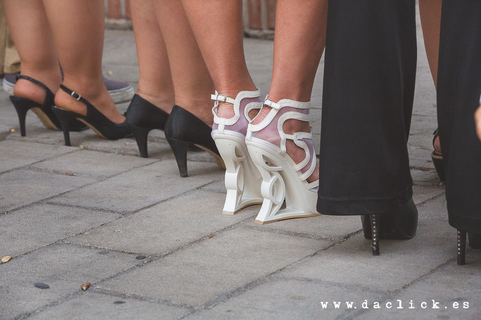zapatos de tacón estrambótico