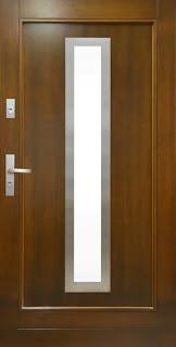 Nowoczesne drzwi zewnętrzne Polskone elegant Inox - z metalową obwódką