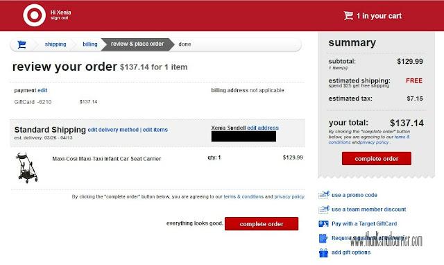 Target.com order
