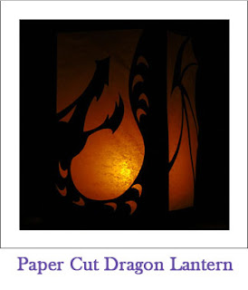 Tickled by the Creative Bug - Paper Cut Dragon Lantern: Link to blog post
