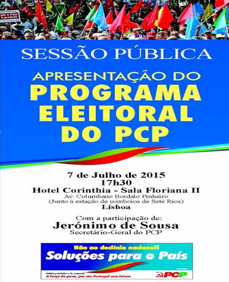 APRESENTAÇÃO DO PROGRAMA ELEITORAL DO PCP