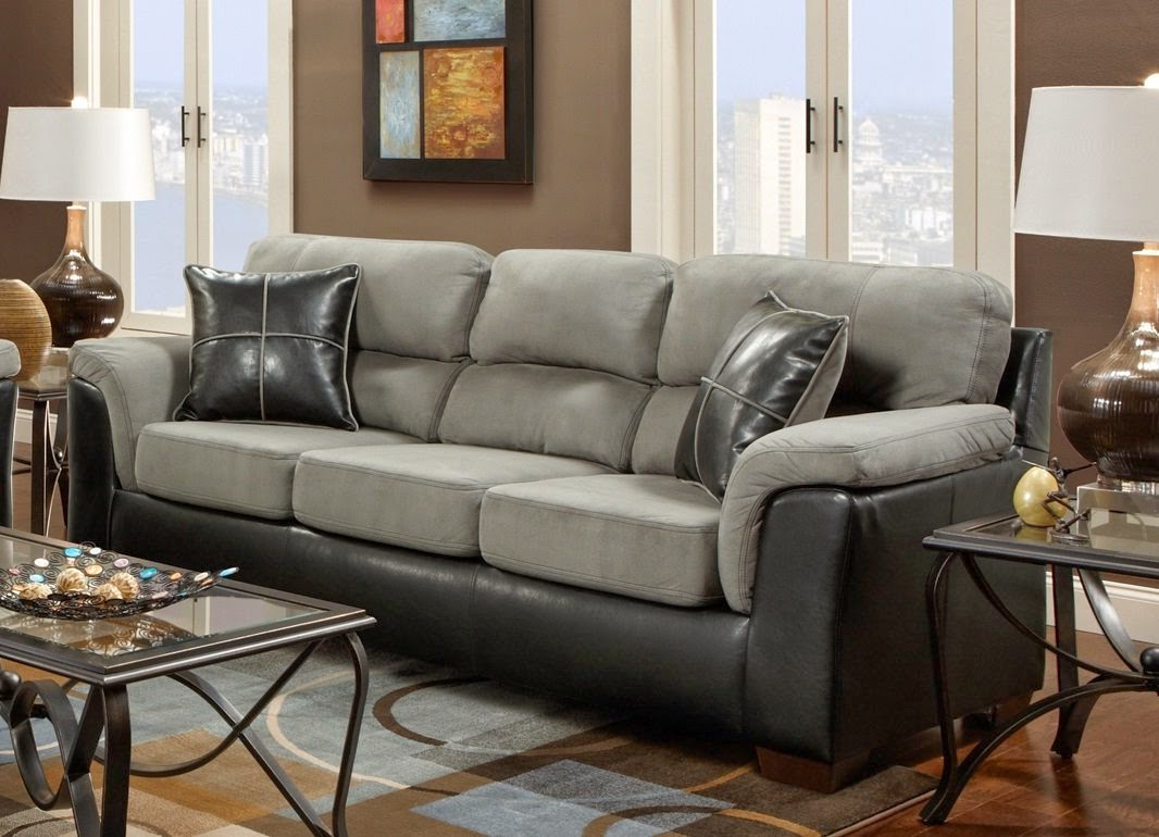 Grey Suede And Black Leather Couch Home Decor And Furniture Pinterest  Living Rooms And Room