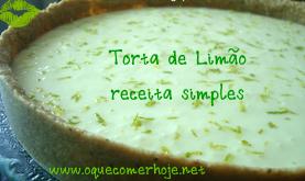 Torta de Limão receita simples