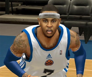 NBA 2K13 Carmelo Anthony Cyber Face Mods