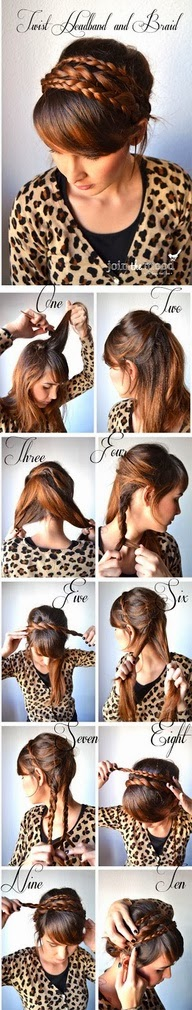 Make twist headband and braid by yourself