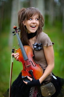 violinist Lindsey Stirling photo shoot