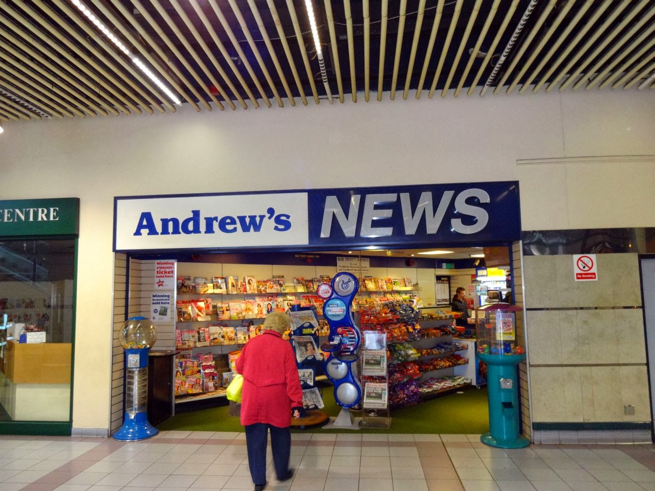 Andrews News at Worcester Bus Station