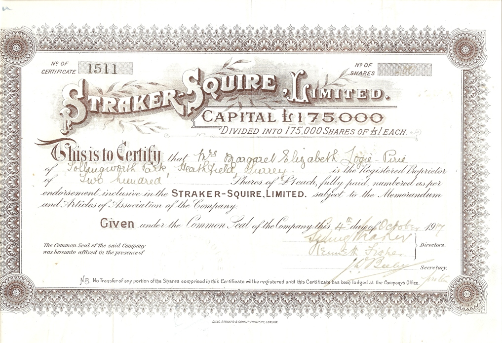 Doc530490 Example of Share Certificate Share Certificate – Company Share Certificates