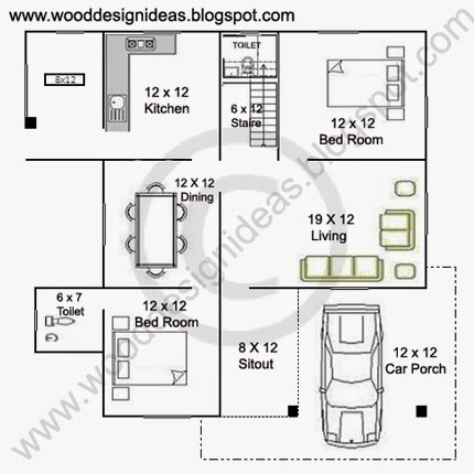 1254 sq ft kerala style low budget house plan wood for Low cost per square foot house plans