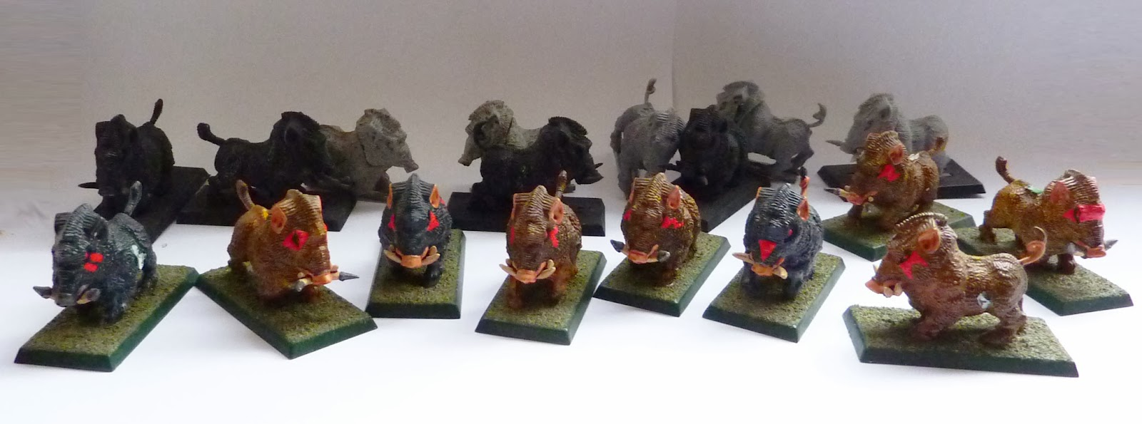 Work in progress - classic Savage Orc Boar Boyz conversions