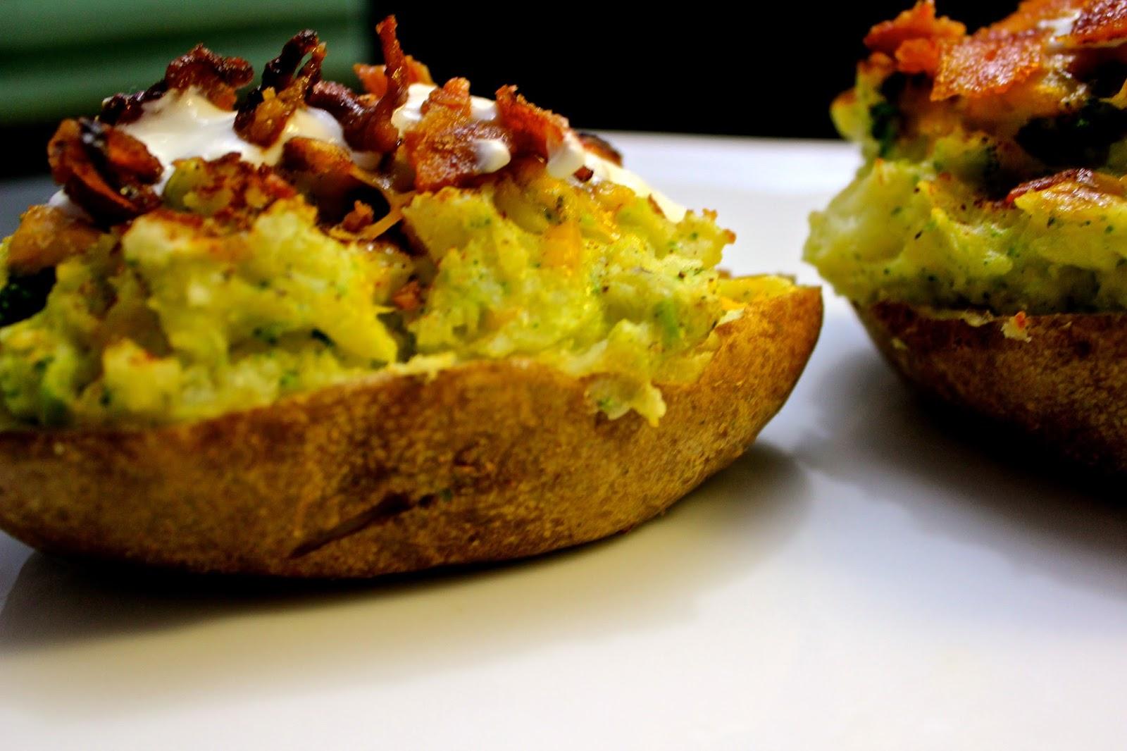 Charleston's Chew: Broccoli, Cheddar, Bacon Twice Baked Potatoes