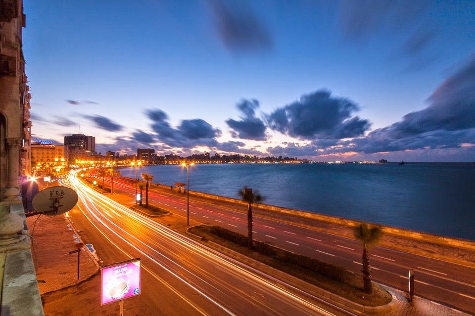 az Alexandriai-öböl este