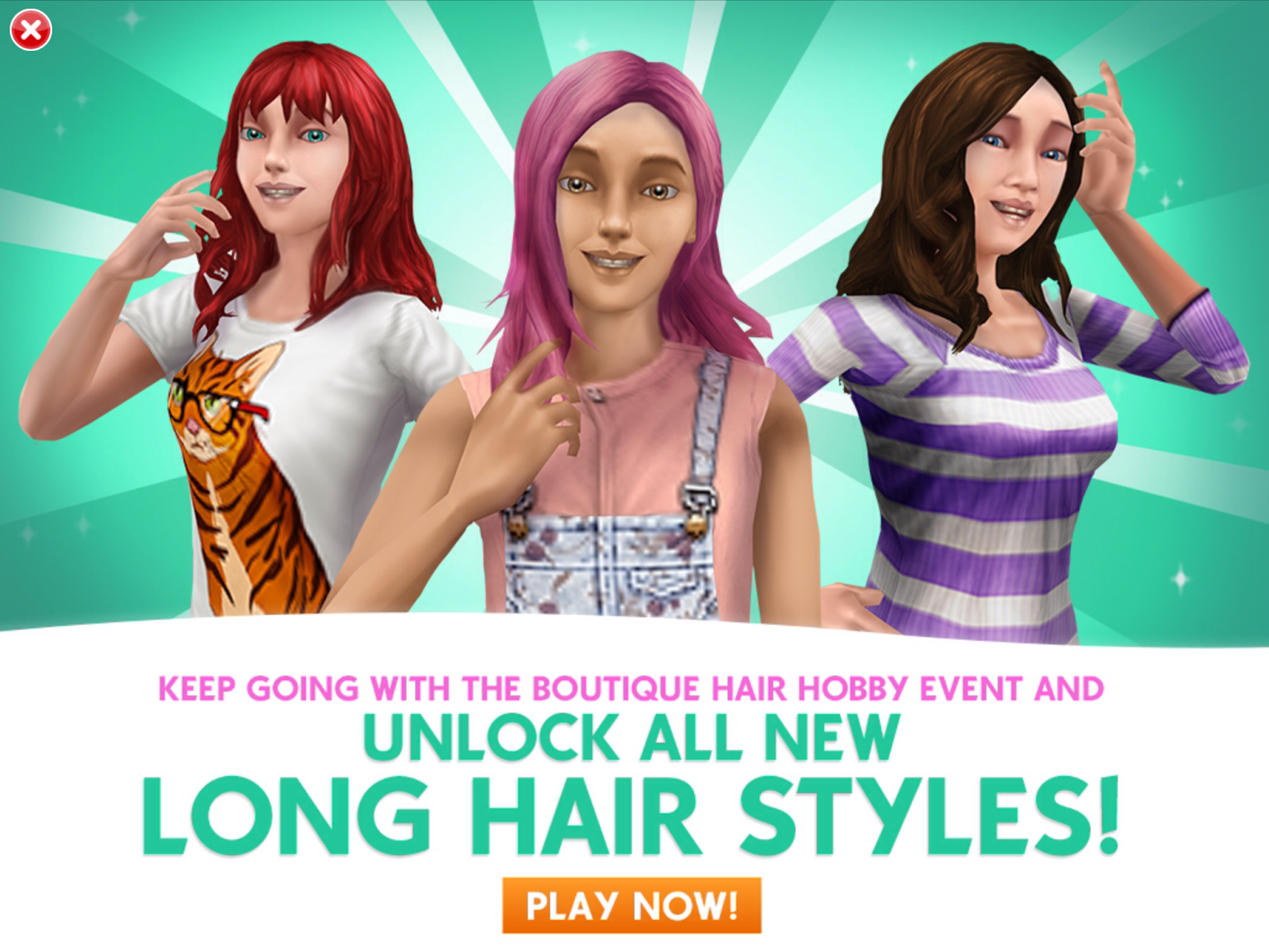The sims freeplay long hairstyle - The Sims Freeplay Boutique Hair Event Quest Walkthrough Tips