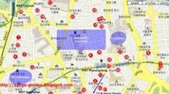 แผนที่โรงแรมในเกาหลี