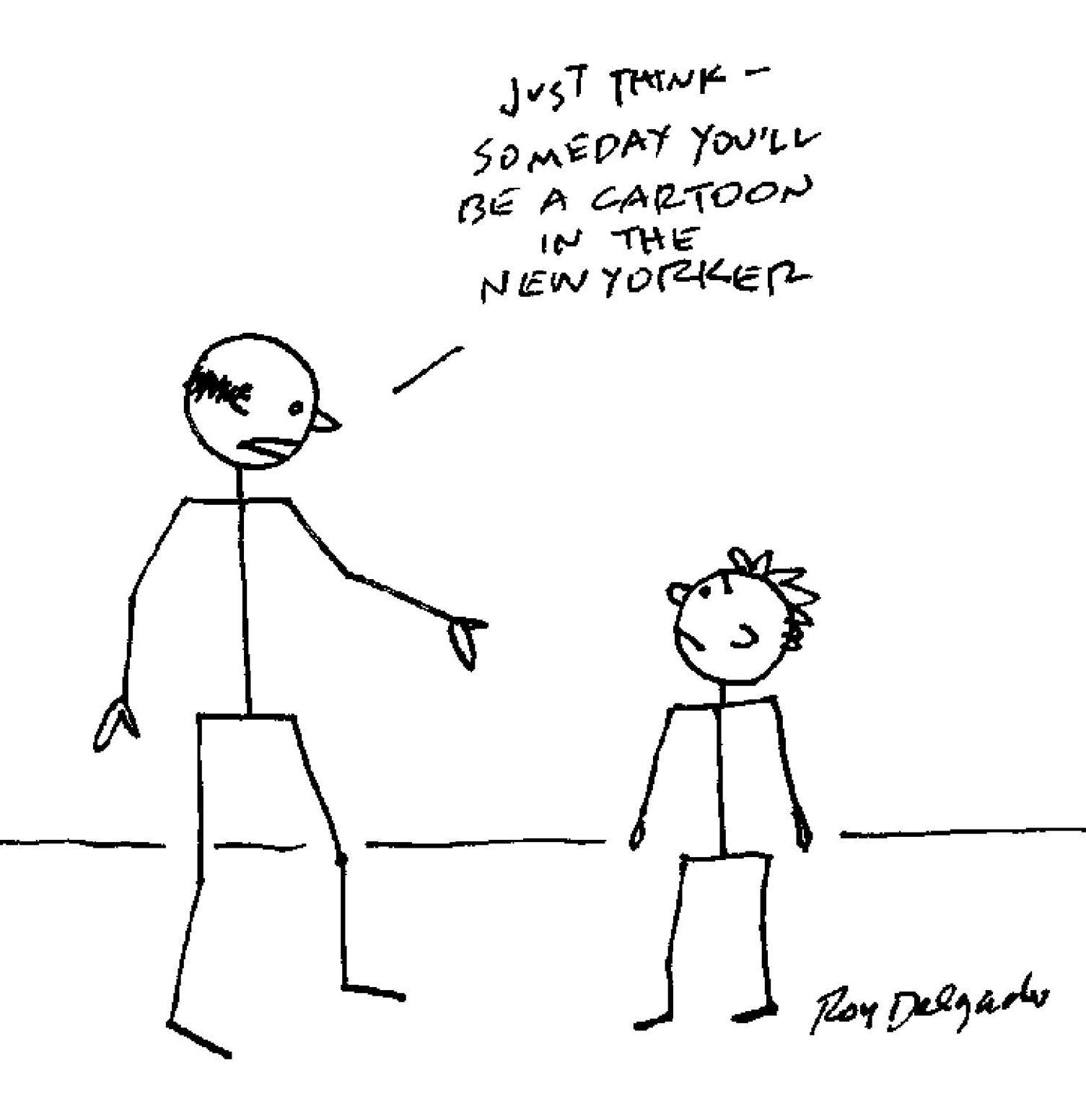 Plum Loco - Roy Delgado: New Yorker cartoon - Roy Delgado
