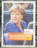 on a CDU poster outside of Potsdamer Platz, Berlin