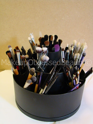 how i store my makeup brushes revolving makeup brush