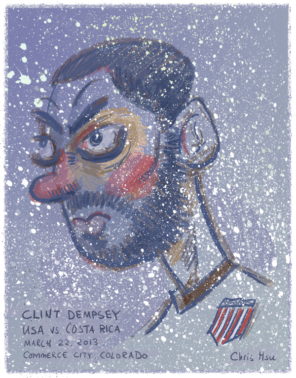 Clint Dempsey Illustration by Chris Hsu