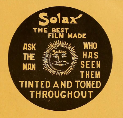 Be Natural !! ©riginal story of Alice Guy Blache -Logo Solax 1911