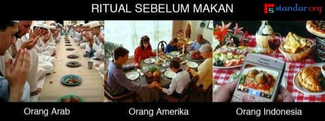 Beda Ritual Sebelum Makan, Beda Maksud, Apa Tujuan Anda..??