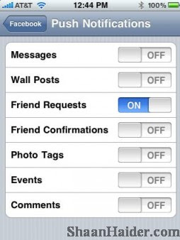 HOW TO : Turn Off Facebook Push Notifications on iPhone