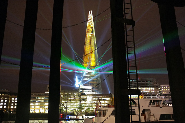 ... mooted for London, The Shard celebrated its opening last night with a  laser light show some called spectacular but left others distinctly  underwhelmed.