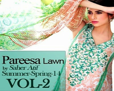 Pareesa Summer Lawn Collection 2014