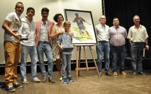 Manuel Jesús Aranda sorprendió a todos con su voz en la presentación en Ayamonte del torneo de fútbol sala base 'Se busca una estrella'