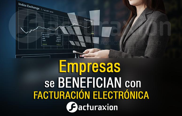 Empresas se benefician por facturación electrónica