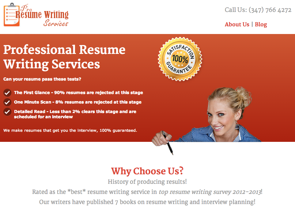 the best resume writing service according to top resume writing survey 2012 2013 and have published 7 books on resume writing and interview planning