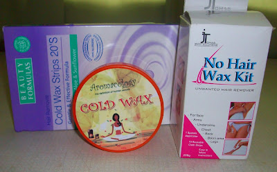 Beauty Formulas Cold Wax Strips, Aromacology Cold Wax, J Tomas No Hair Wax Kit