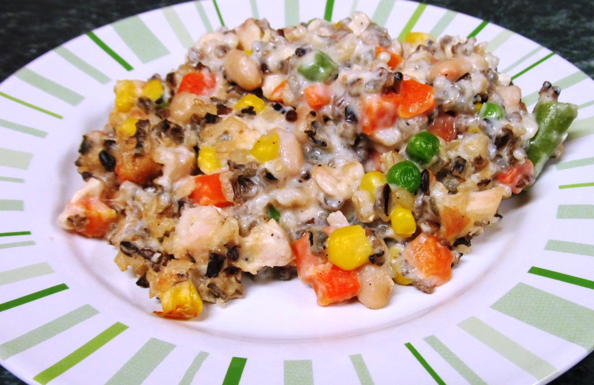 ... Does Dinner... Healthy & Low Calorie: Chicken and Wild Rice Casserole