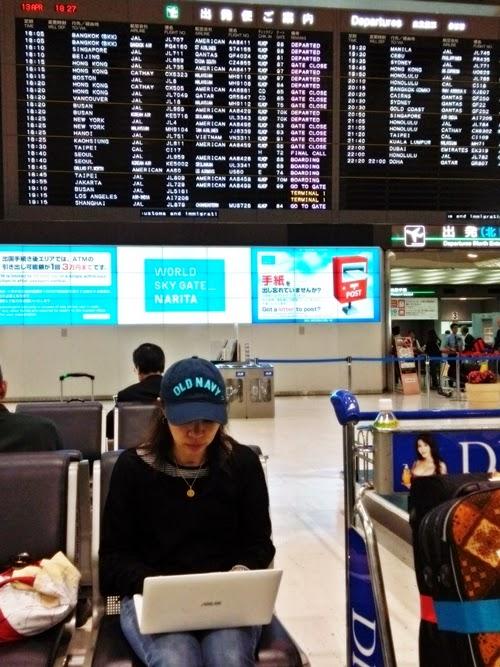成田空港第二ターミナル出発ゲート前
