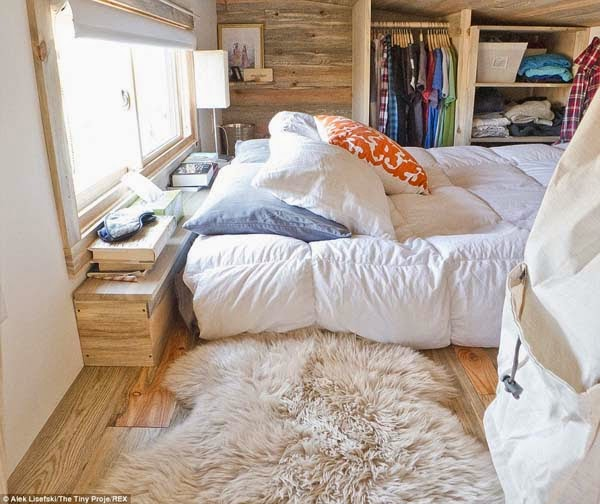It's used as their bedroom with a full mattress.