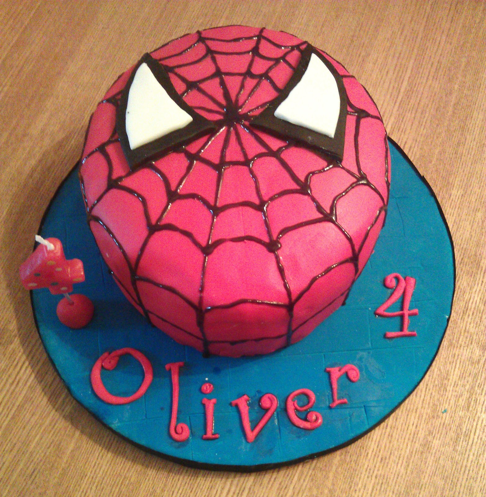 My Little Kitchen Spiderman Cake