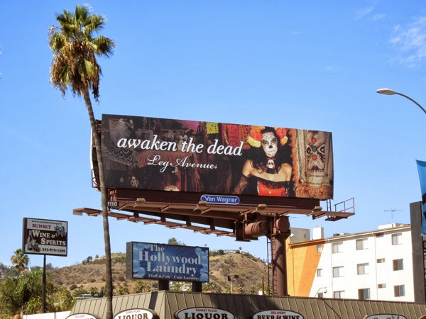 Awaken the Dead Leg Avenue Halloween billboard