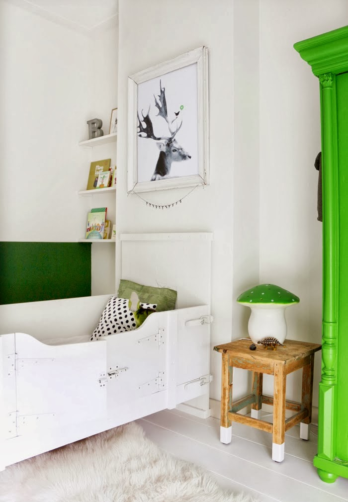 Maaike Koster boy room green