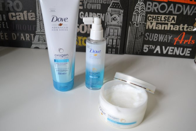 Dove Oxygen Moisture Shampoo and Root Lift Spray