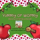 http://www.teacherspayteachers.com/Product/Yummy-or-Wormy-Real-and-Nonsense-Word-Sort-1427122
