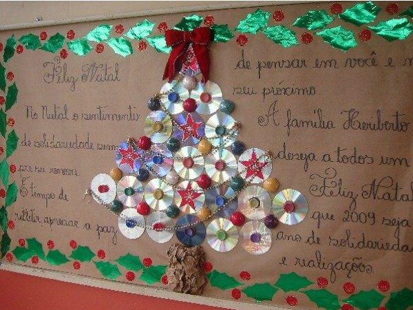 5 ideas de rboles de navidad de dise o minimalista for Mural navideno