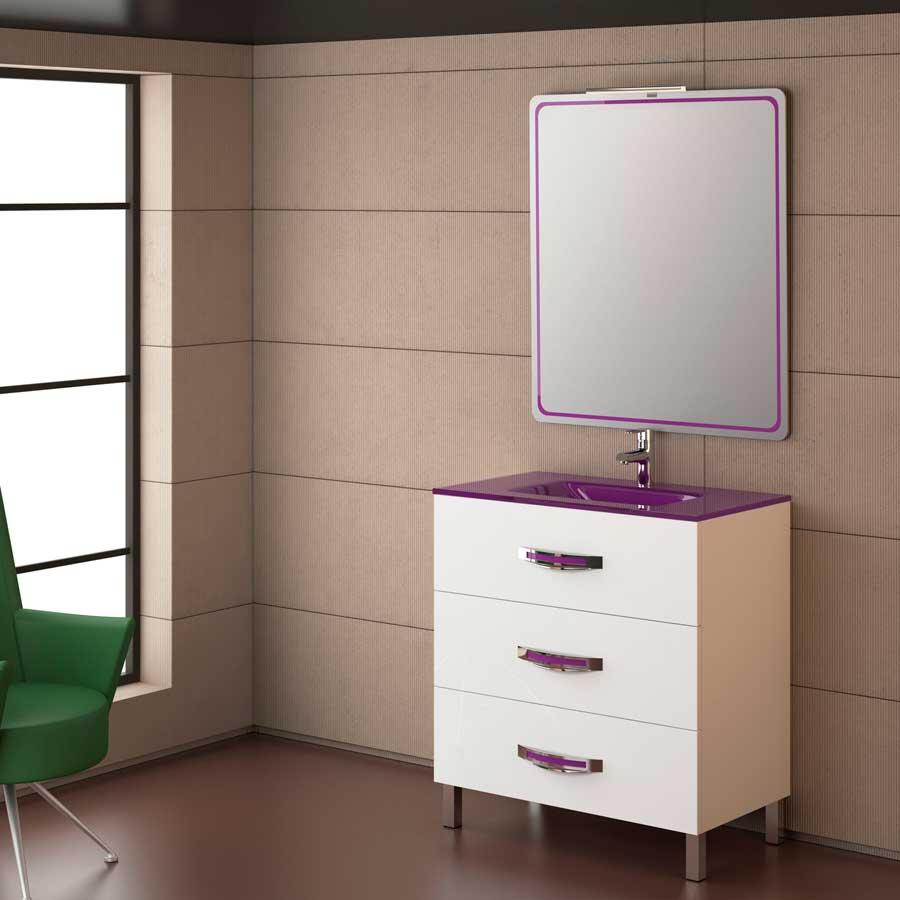 Muebles Para Baño La PlataMueble de baño Garona 80 gris de Torvisco