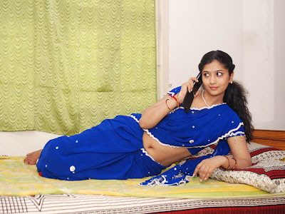 liya sree new blue saree actress pics