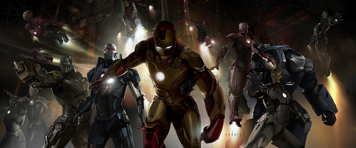 IRON MAN 3 Concept Art by Rodney FuentebellaIron Man Stealth Armor Concept Art