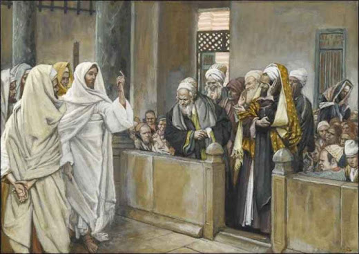 Jesus diante dos fariseus, Jacques Tissot  (1836 – 1902).j